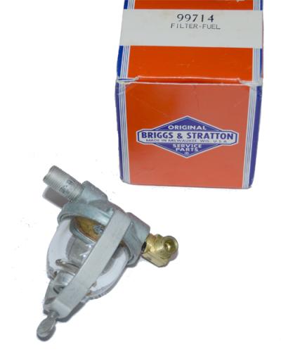 [SCHEMATICS_48EU]  new old stock original OEM Briggs & Stratton Sediment Bowl Fuel Filter.  OEM: 99714 | Sediment Bowl Fuel Filter |  | Parts From The Past